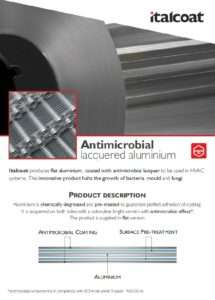 Antimicrobial laquered aluminium
