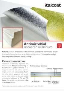 Alluminio Laccato Antimicrobico